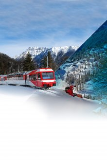 Train + ski Marécottes