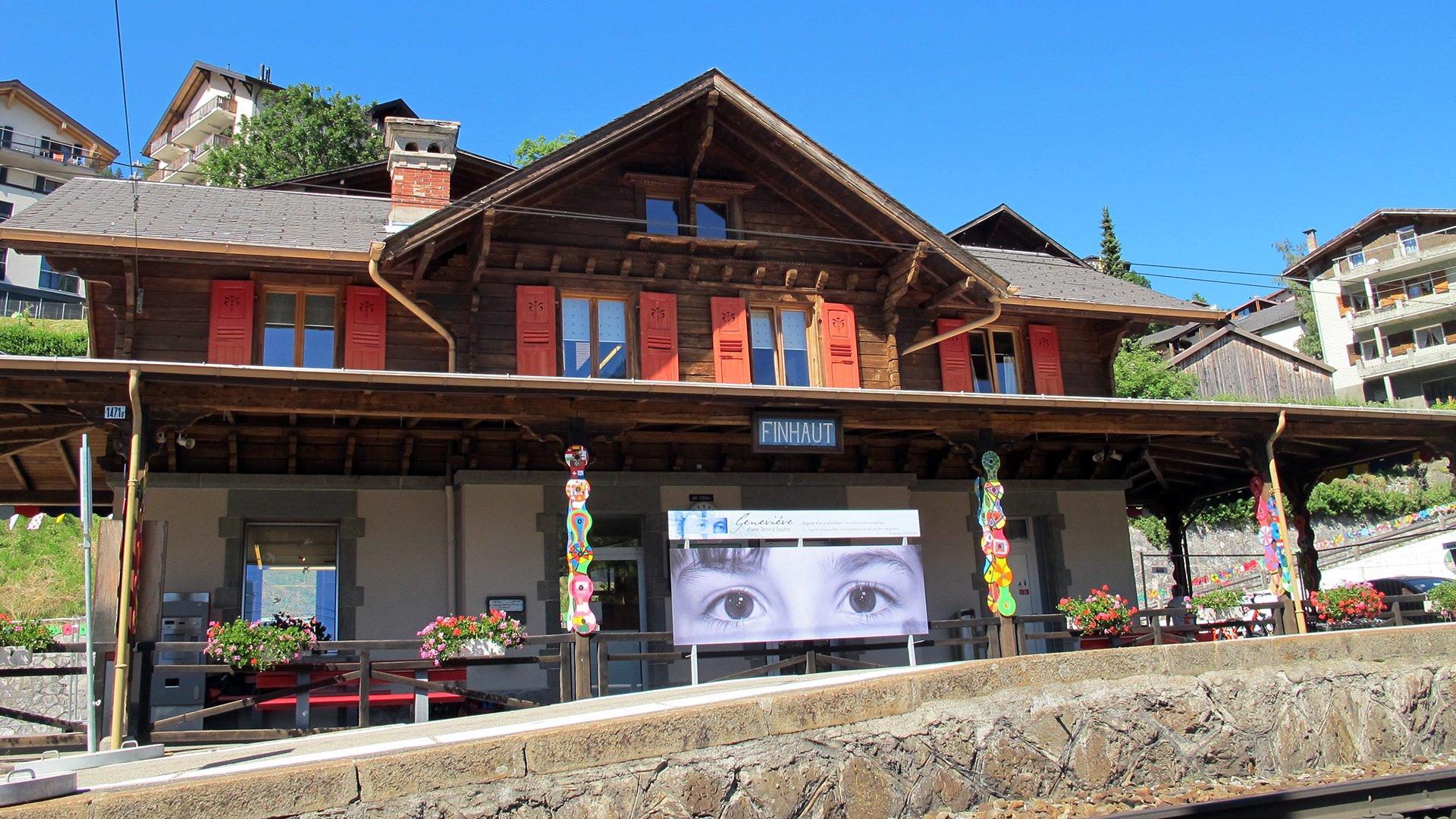 Gare de Finhaut / info point